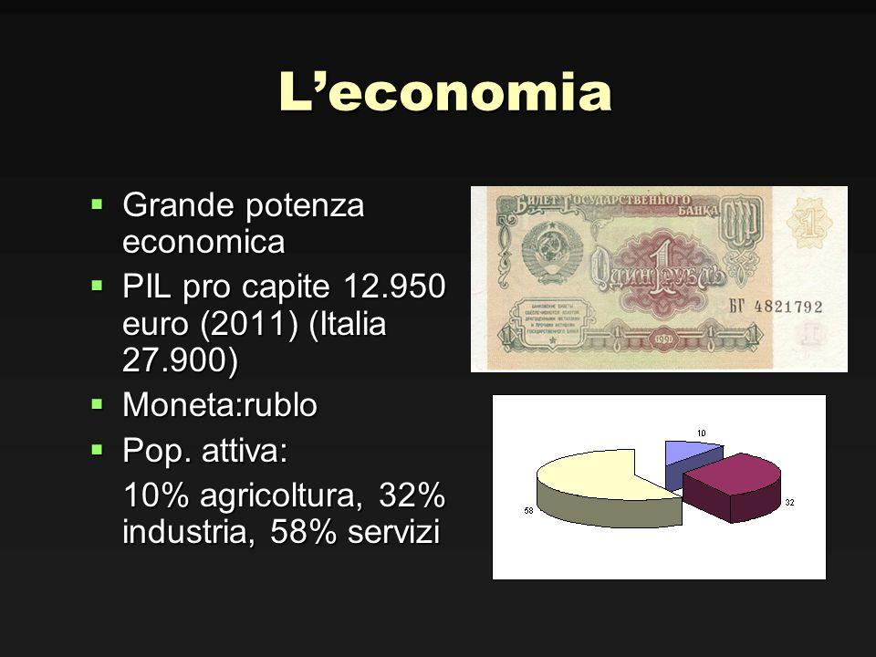 L'economia Grande potenza economica