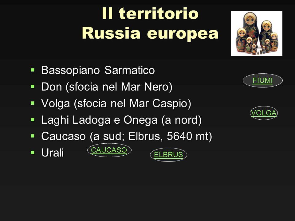 Il territorio Russia europea