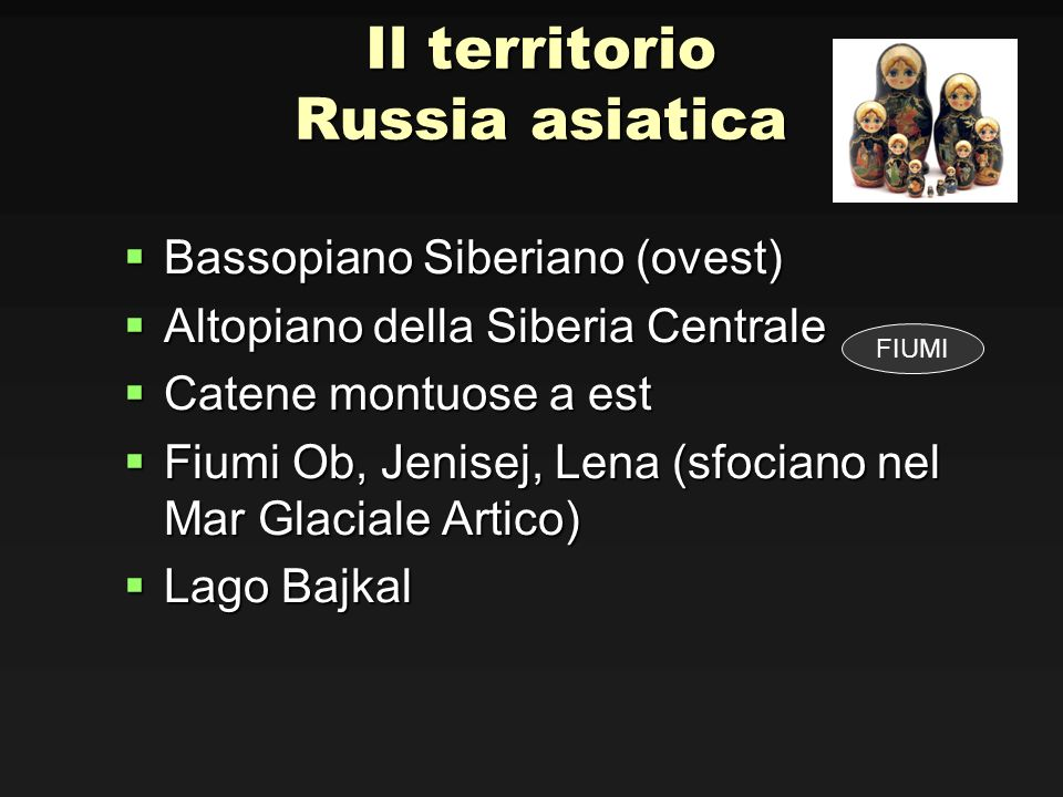 Il territorio Russia asiatica