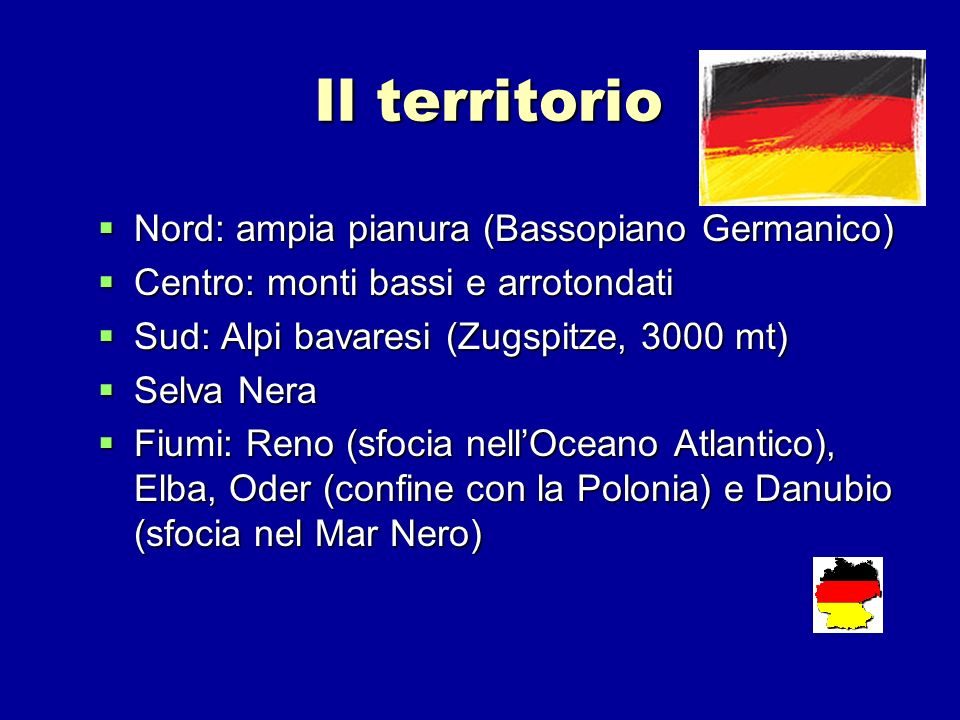 Il territorio Nord: ampia pianura (Bassopiano Germanico)