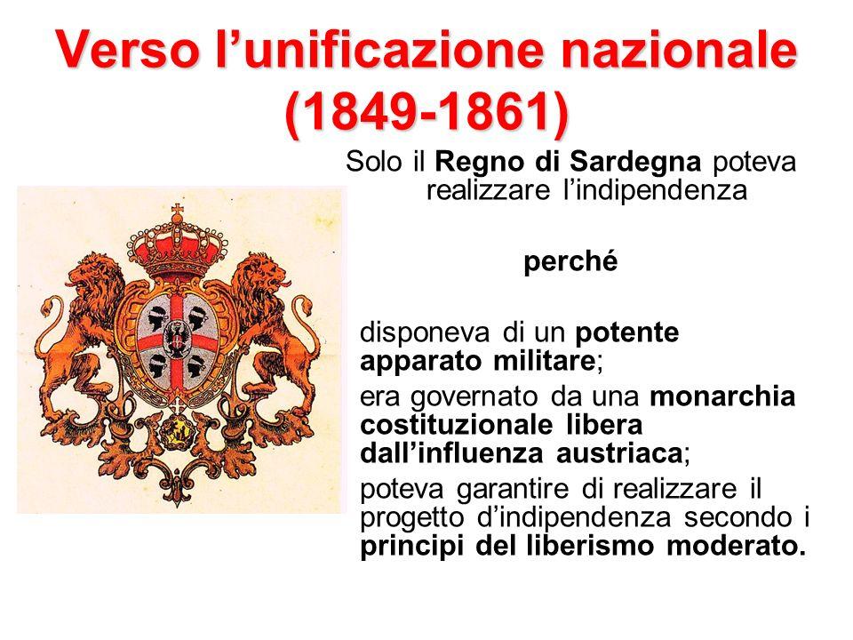Verso l'unificazione nazionale (1849-1861)
