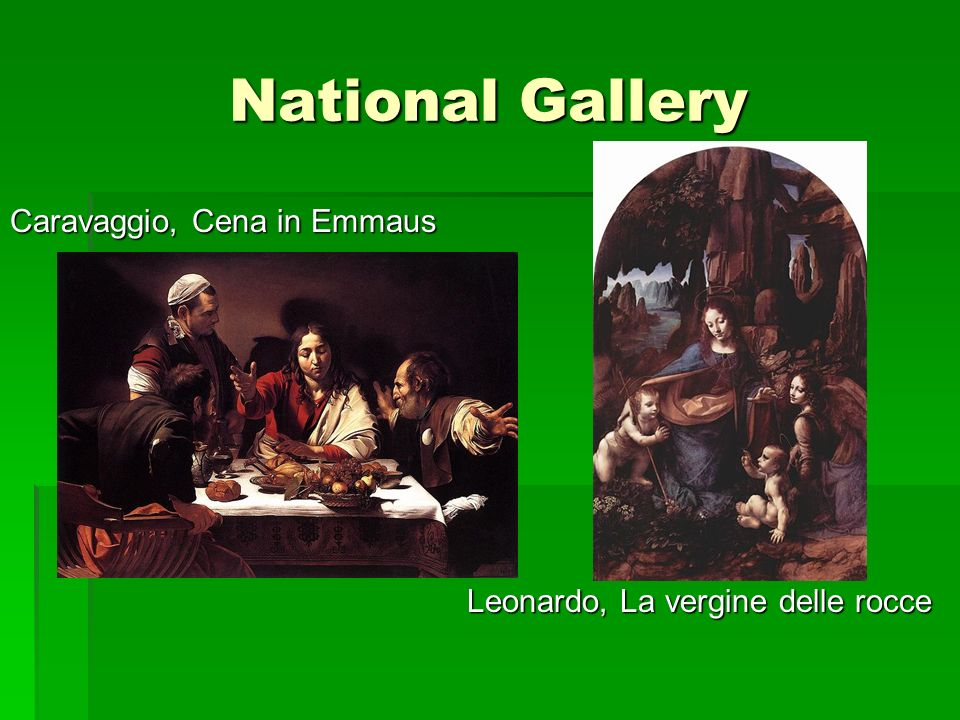 National Gallery Caravaggio, Cena in Emmaus