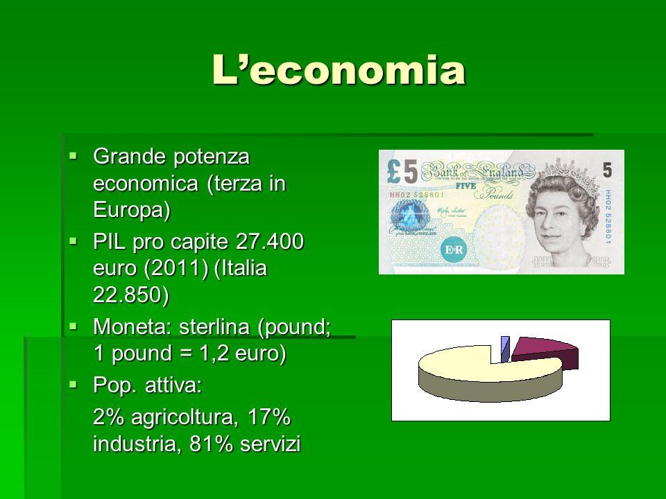 L'economia Grande potenza economica (terza in Europa)