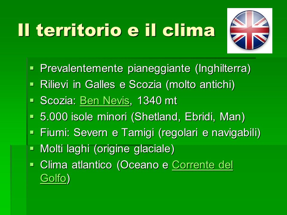 Il territorio e il clima