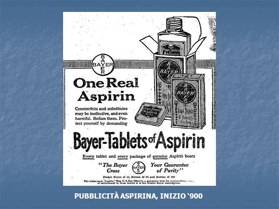 PUBBLICITÀ ASPIRINA, INIZIO '900