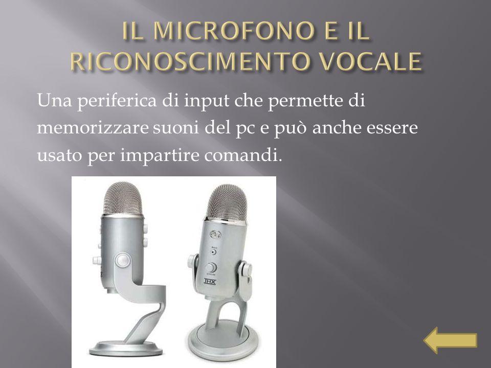 IL MICROFONO E IL RICONOSCIMENTO VOCALE