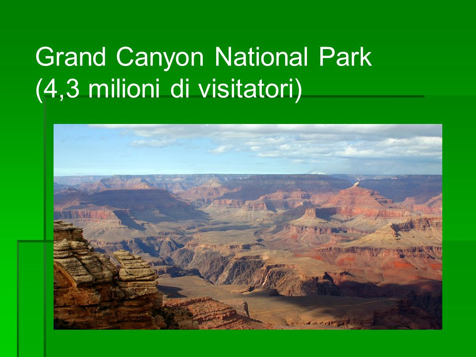Grand Canyon National Park (4,3 milioni di visitatori)