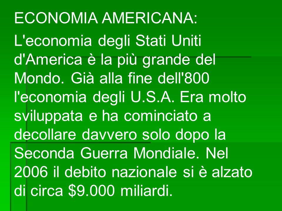 ECONOMIA AMERICANA: