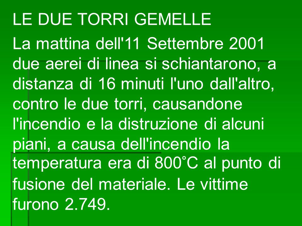 LE DUE TORRI GEMELLE