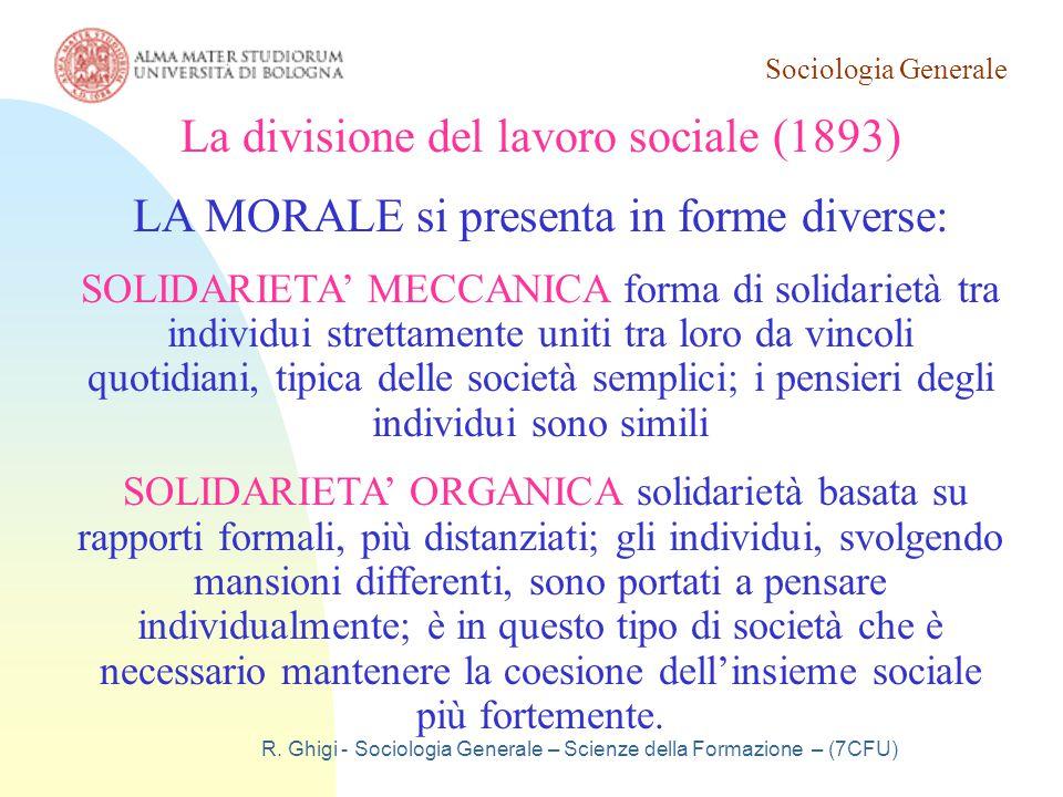 La divisione del lavoro sociale (1893)