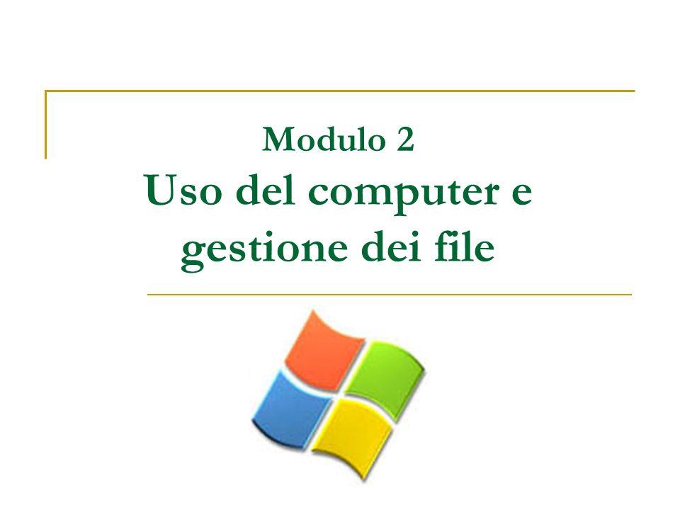 Modulo 2 Uso del computer e gestione dei file