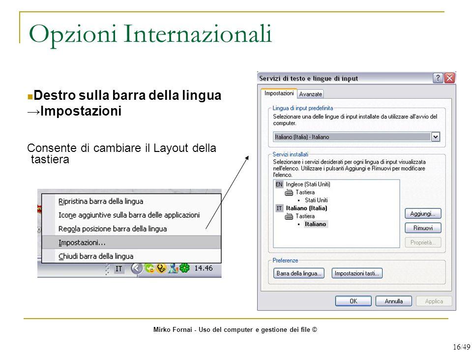 Opzioni Internazionali