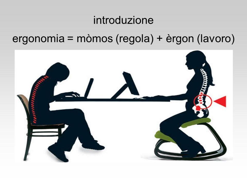 ergonomia = mòmos (regola) + èrgon (lavoro)