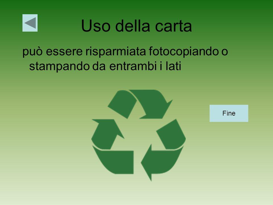 Uso della carta può essere risparmiata fotocopiando o stampando da entrambi i lati Fine