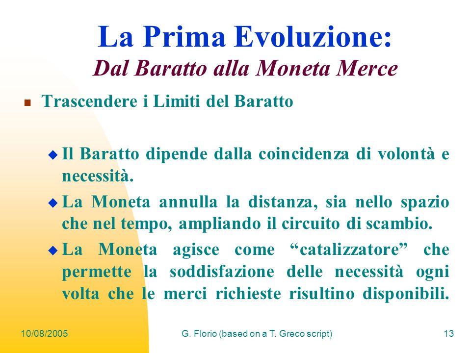 La Prima Evoluzione: Dal Baratto alla Moneta Merce
