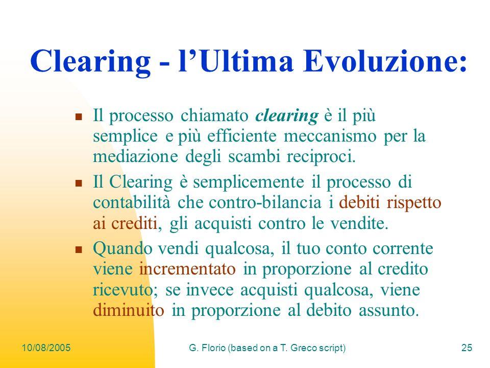 Clearing - l'Ultima Evoluzione: