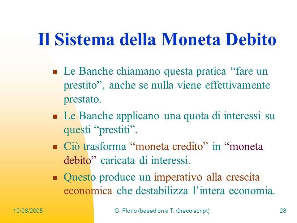 Il Sistema della Moneta Debito