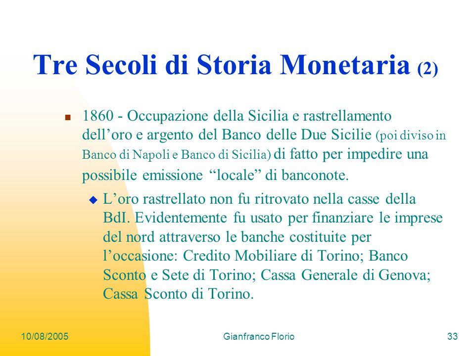 Tre Secoli di Storia Monetaria (2)