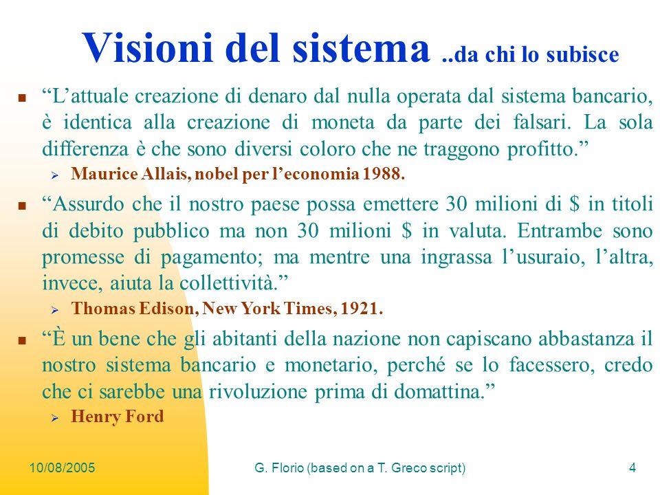 Visioni del sistema ..da chi lo subisce