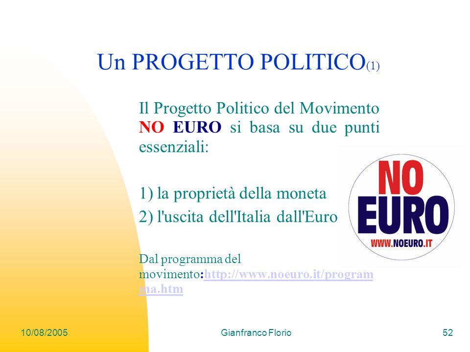 Un PROGETTO POLITICO(1)
