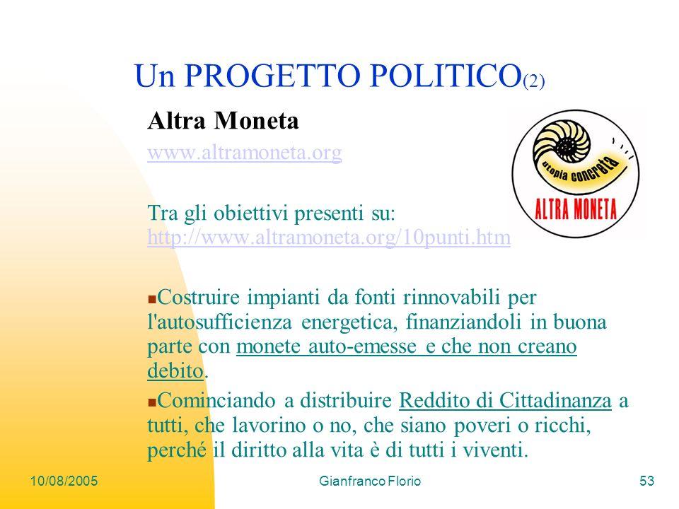 Un PROGETTO POLITICO(2)
