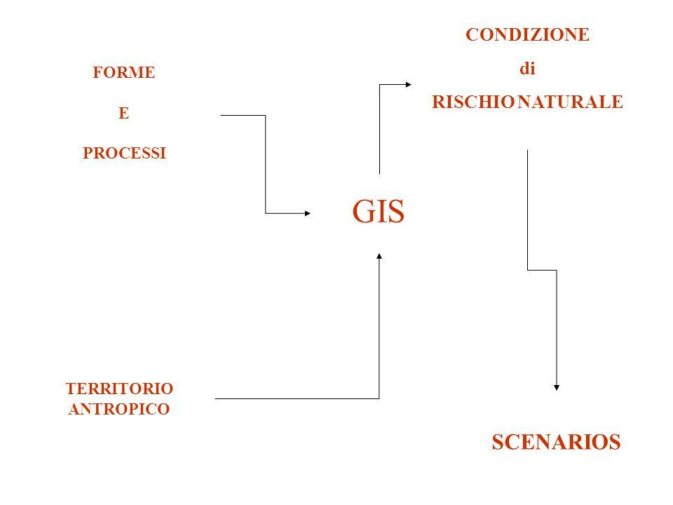 GIS SCENARIOS CONDIZIONE di RISCHIO NATURALE FORME E PROCESSI