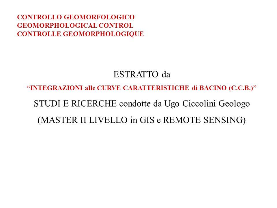 INTEGRAZIONI alle CURVE CARATTERISTICHE di BACINO (C.C.B.)