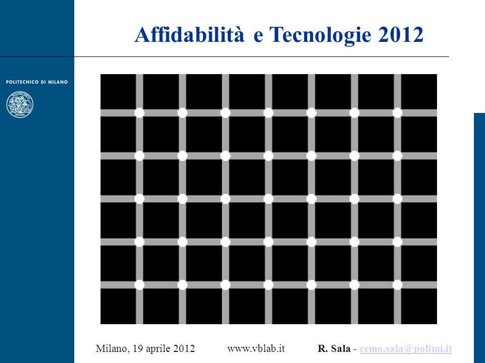 Affidabilità e Tecnologie 2012