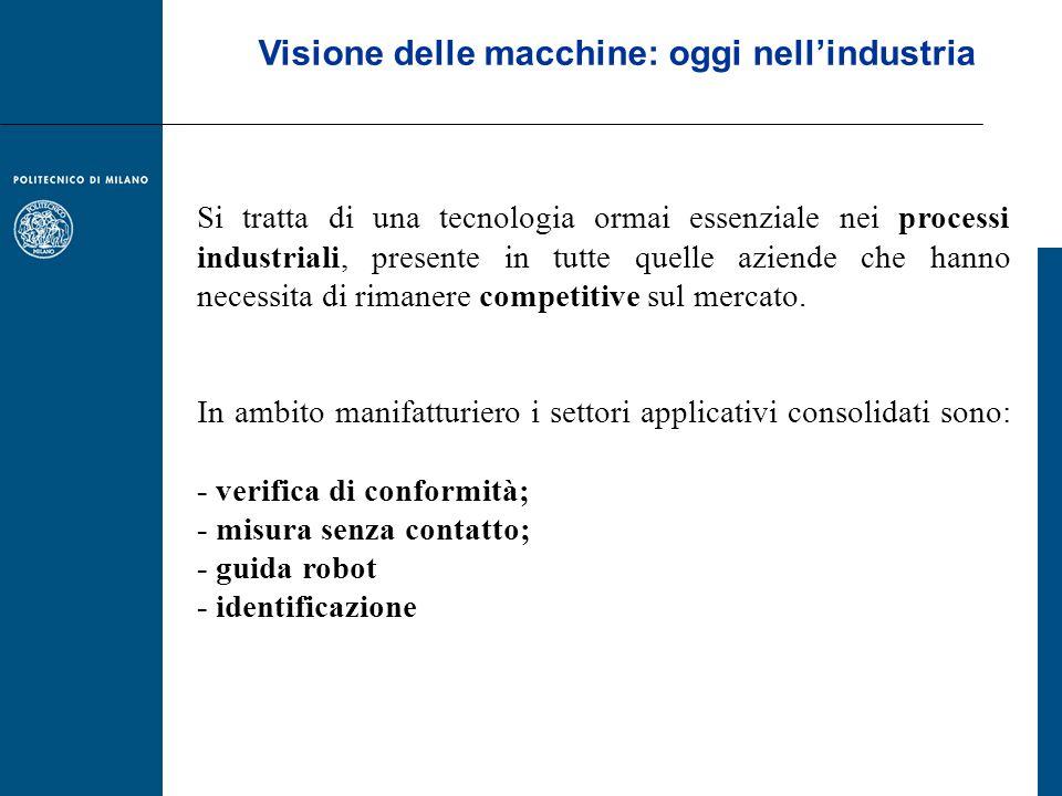 Visione delle macchine: oggi nell'industria
