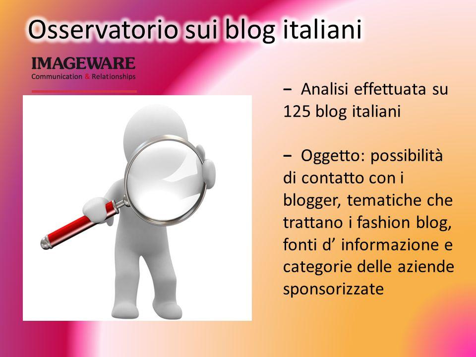 Osservatorio sui blog italiani