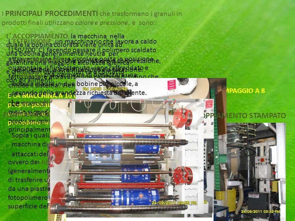 I PRINCIPALI PROCEDIMENTI che trasformano i granuli in prodotti finali utilizzano calore e pressione, e sono: