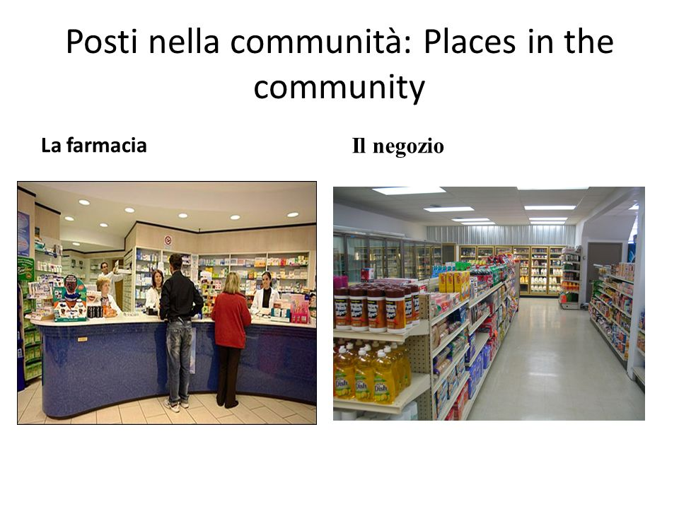 Posti nella communità: Places in the community