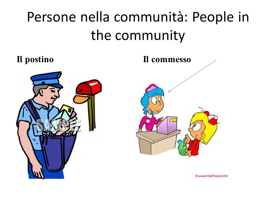 Persone nella communità: People in the community