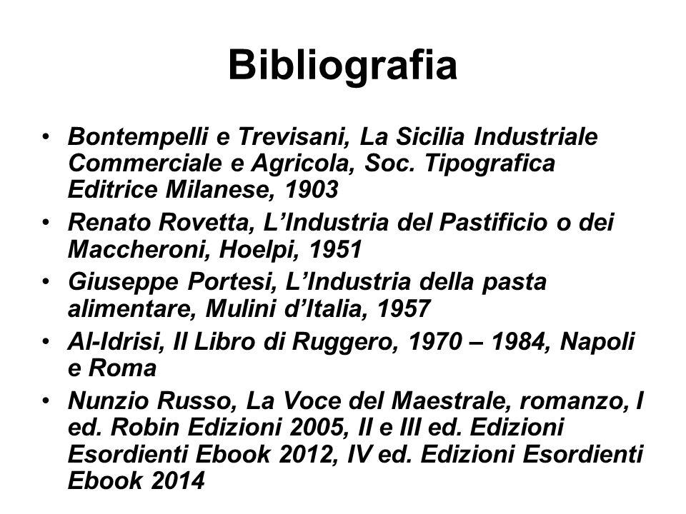 Bibliografia Bontempelli e Trevisani, La Sicilia Industriale Commerciale e Agricola, Soc. Tipografica Editrice Milanese, 1903.