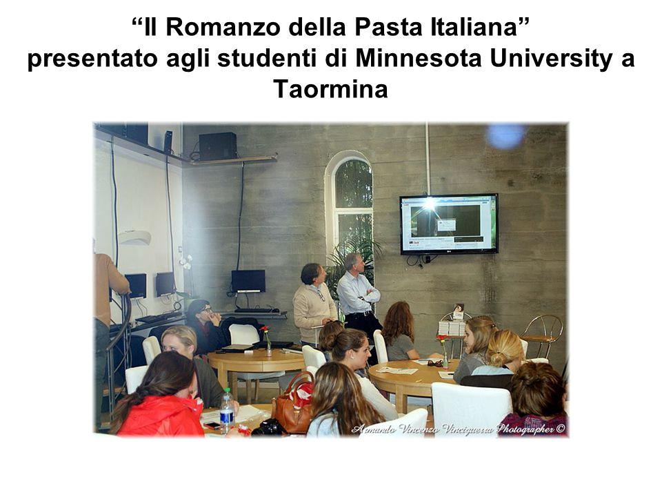 Il Romanzo della Pasta Italiana presentato agli studenti di Minnesota University a Taormina