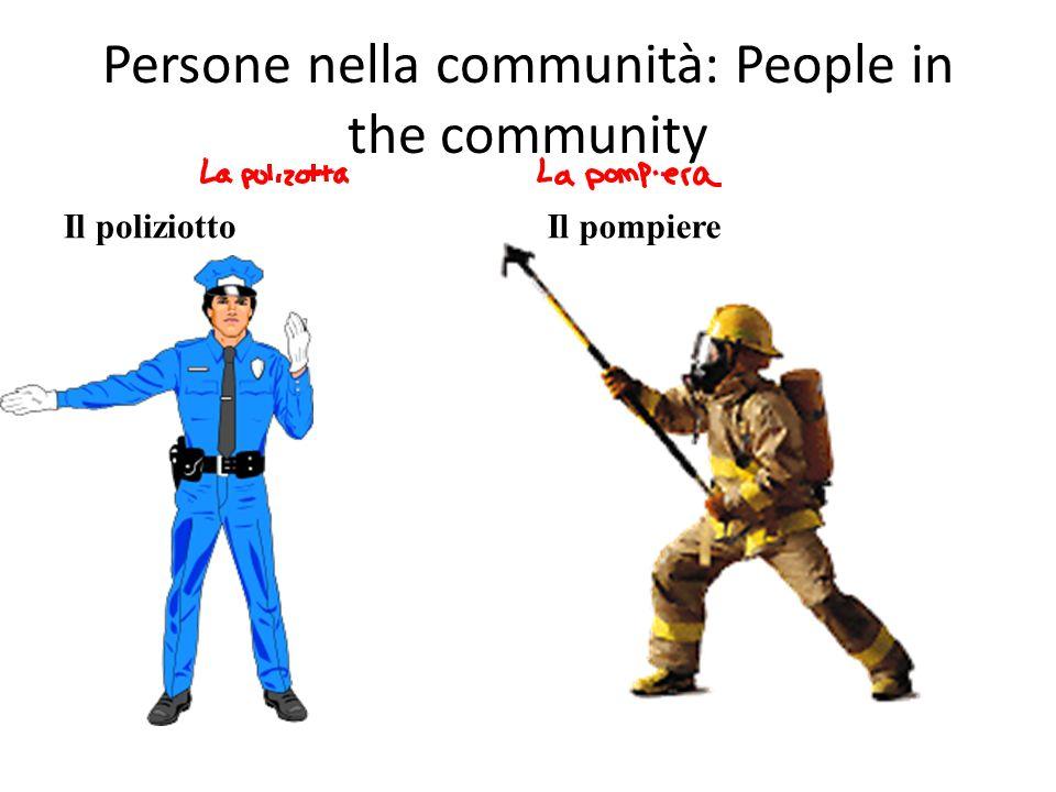 Persone nella communità: People in the community