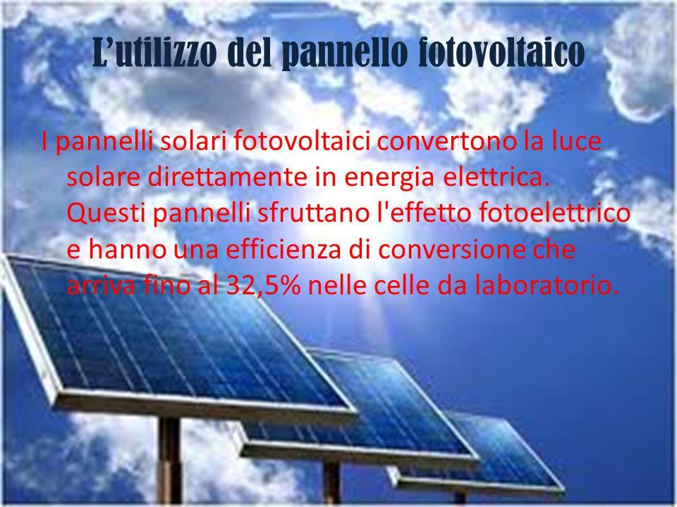 L'utilizzo del pannello fotovoltaico