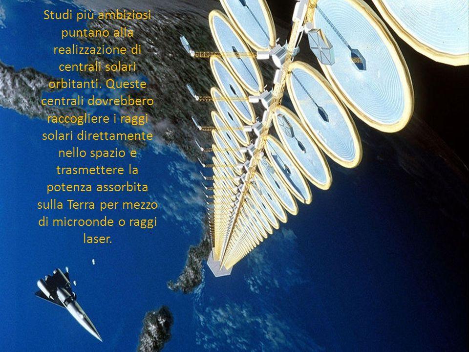 Studi più ambiziosi puntano alla realizzazione di centrali solari orbitanti.