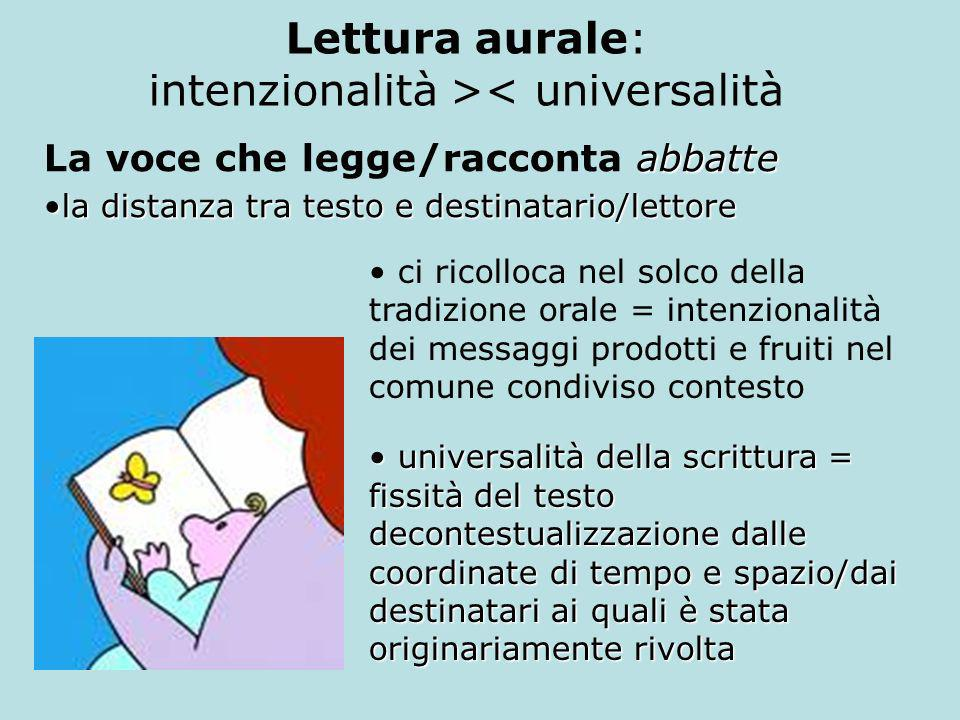Lettura aurale: intenzionalità >< universalità