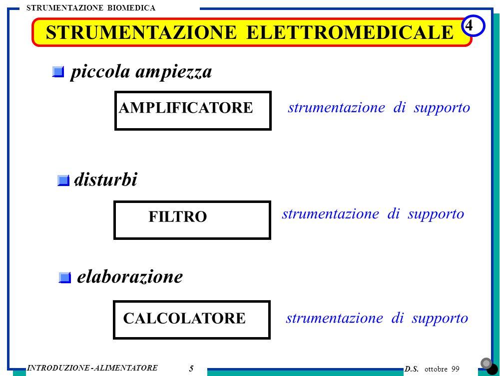 STRUMENTAZIONE ELETTROMEDICALE