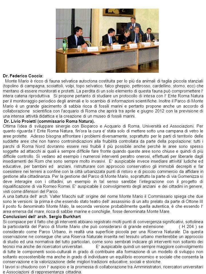 Dr. Federico Coccia: