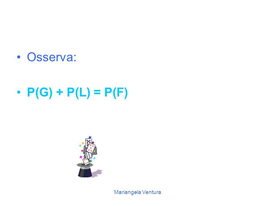 Osserva: P(G) + P(L) = P(F) Mariangela Ventura