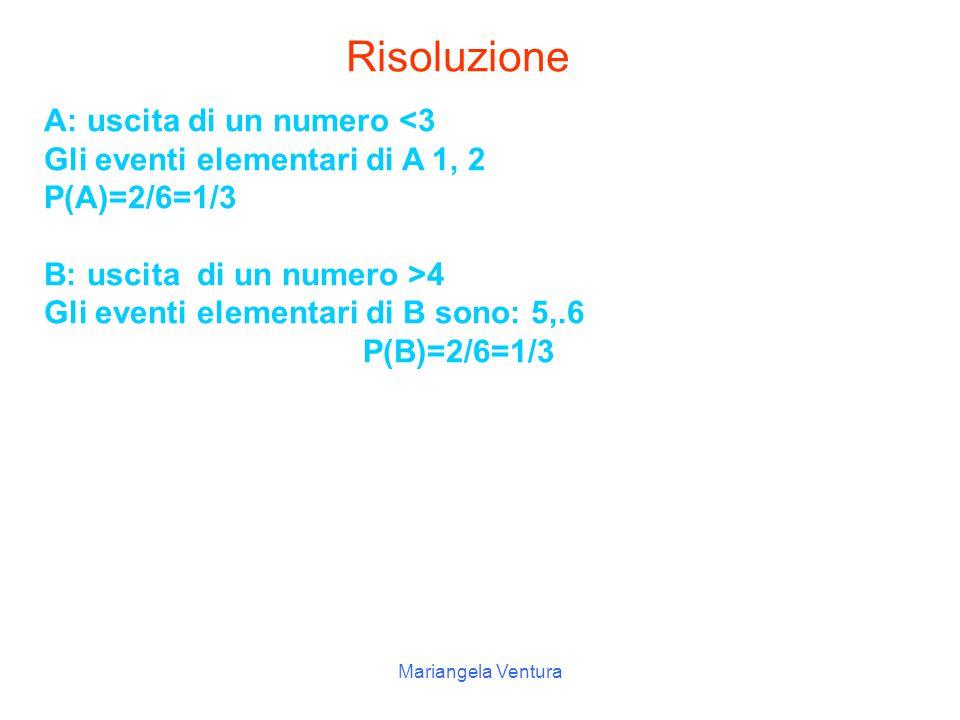 Risoluzione A: uscita di un numero <3