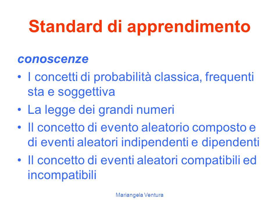 Standard di apprendimento