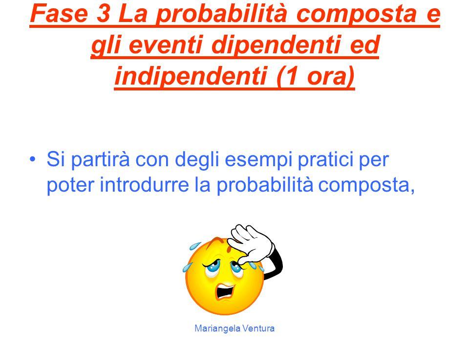 Fase 3 La probabilità composta e gli eventi dipendenti ed indipendenti (1 ora)