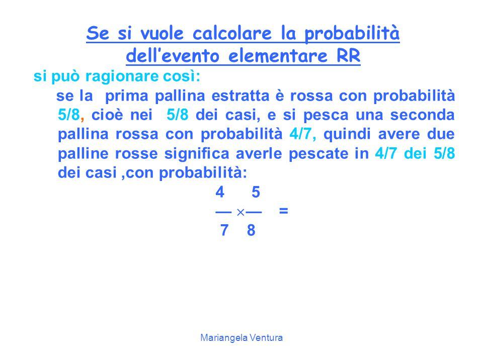 Se si vuole calcolare la probabilità dell'evento elementare RR