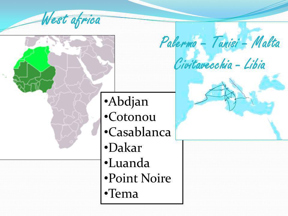Palermo – Tunisi – Malta Civitavecchia - Libia