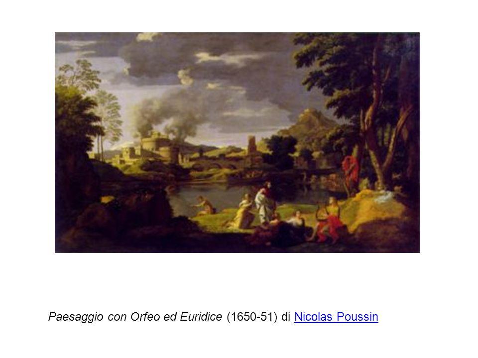 Paesaggio con Orfeo ed Euridice (1650-51) di Nicolas Poussin
