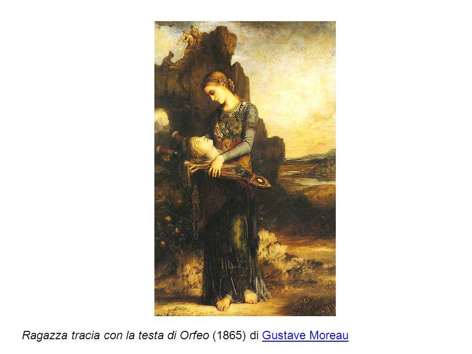 Ragazza tracia con la testa di Orfeo (1865) di Gustave Moreau