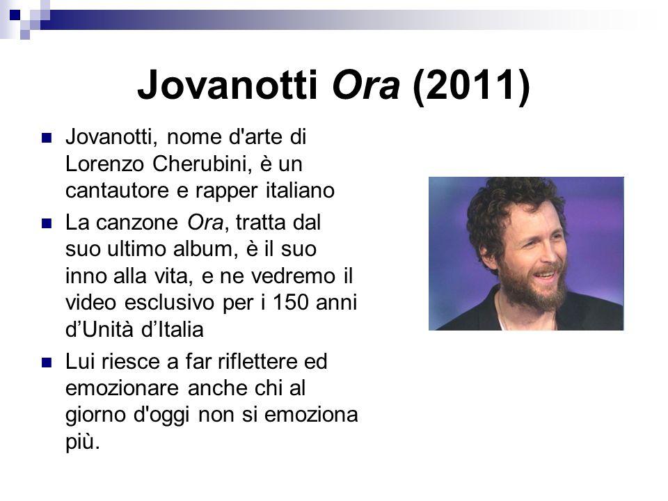 Jovanotti Ora (2011) Jovanotti, nome d arte di Lorenzo Cherubini, è un cantautore e rapper italiano.